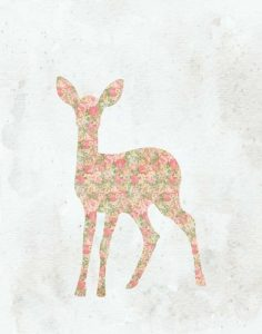 Shabby Chic Deer