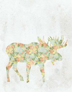 Shabby Chic Moose