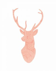 Coral Pattern Deer Head