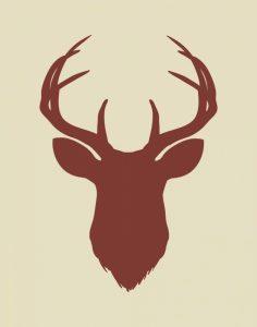 Maroon Deer Head