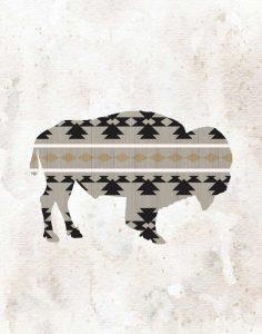 Tribal Buffalo Silhouette