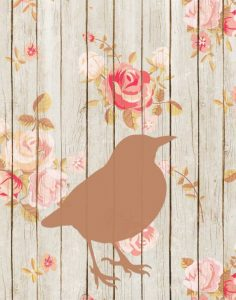 Brown Bird Floral