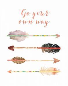 Go Your Own Way Arrows