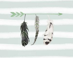 Mint Feathers and Arrows