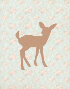 Fawn on Floral