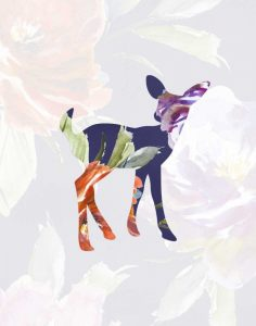 Purple Floral Fawn