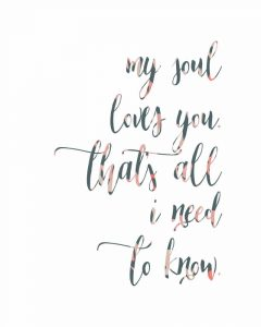 My Soul Loves You