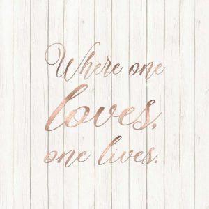 Where One Loves