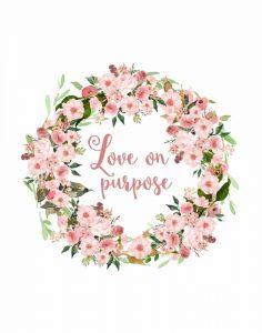 Love on Purpose Pink Wreath