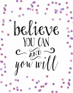 Believe You Can Pink and Purple Confetti