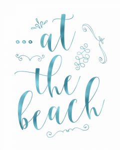 At the Beach – Blue