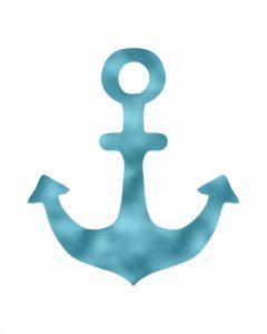 Blue Foil Anchor