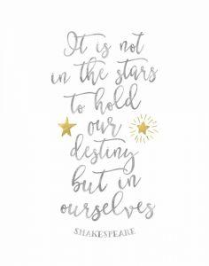 Shakespeare Destiny Quote