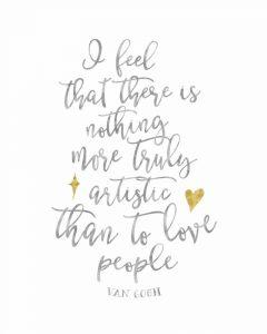 Van Gogh Love People Quote