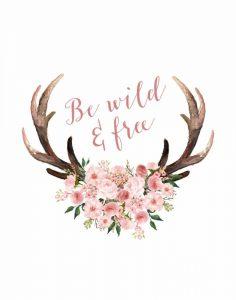 Pink Floral Antlers