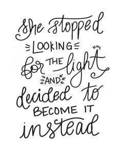 Become the Light – Hand Lettered
