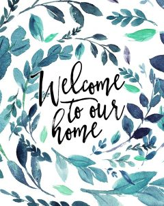 Welcome to Our Home – Blue