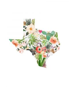Texas Floral Collage I