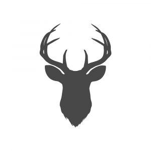 Charcoal Deer Head