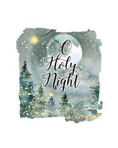 O Holy Night Watercolor