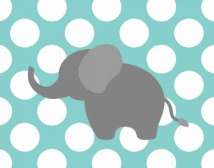 Elephant Polka Dots