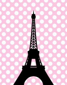 Eiffel Tower Polka Dots
