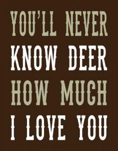 Deer Love Woods