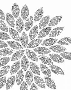 Silver Glitter Flower
