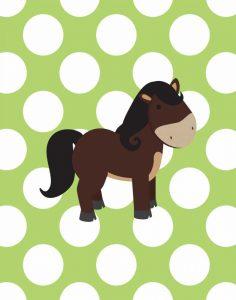 Horse Polka Dots