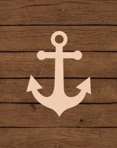 Nautical Wood Anchor