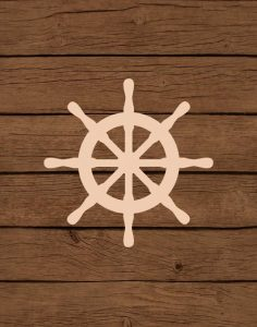 Nautical Wood Wheel