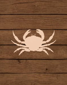 Nautical Wood Crab