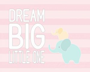 Dream Big Little One – Pink II