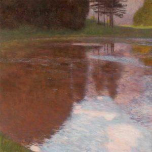 Tranquil pond near Salzburg