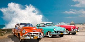 Cars in Avenida de Maceo- Havana- Cuba