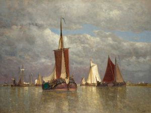 Ships lying near Dordrecht