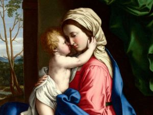 The Virgin and Child embracing (detail)