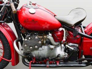Vintage American motorbike (detail)