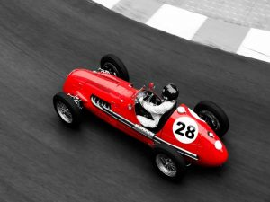 Historical race car at Grand Prix de Monaco