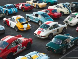 Vintage sport cars at Grand Prix, Nurburgring