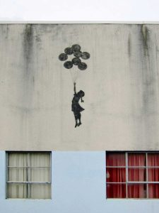 Building in Bristol  (graffiti attributed to Banksy)