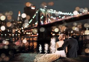 Kissing in a NY Night