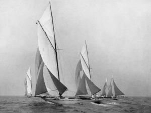 Saliboats Sailing Downwind ca. 1900-1920