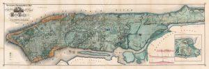 Map of Manhattan Island, 1865