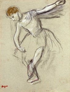 A Dancer Seen In Profile