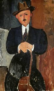 Seated Man – Leaning On a Cane