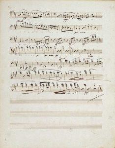 Manuscripts of The Quartet In a Minor Opus 132