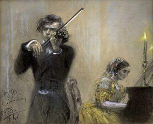 A Violinist and Clara Schumann