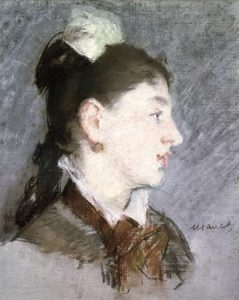 The Young Woman with a Wing Collar, Profile (La jeune fille au col casse)
