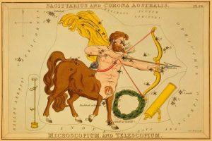 Sagittarius and Corona Australis, Microscopium, and Telescopium, 1825